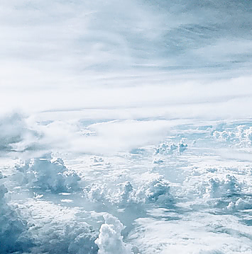 Фото облаков с самолета
