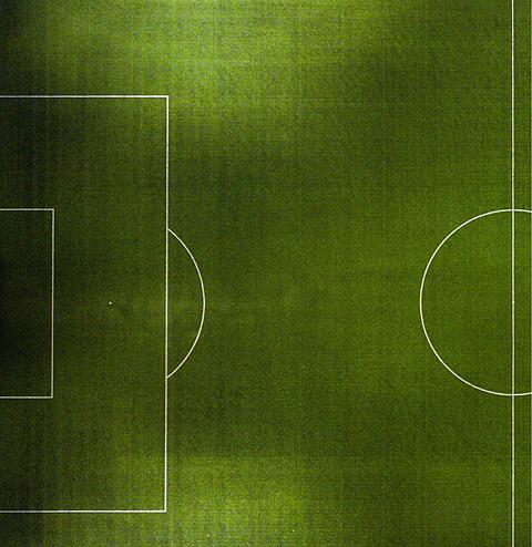Разметка левой стороны футбольного поля