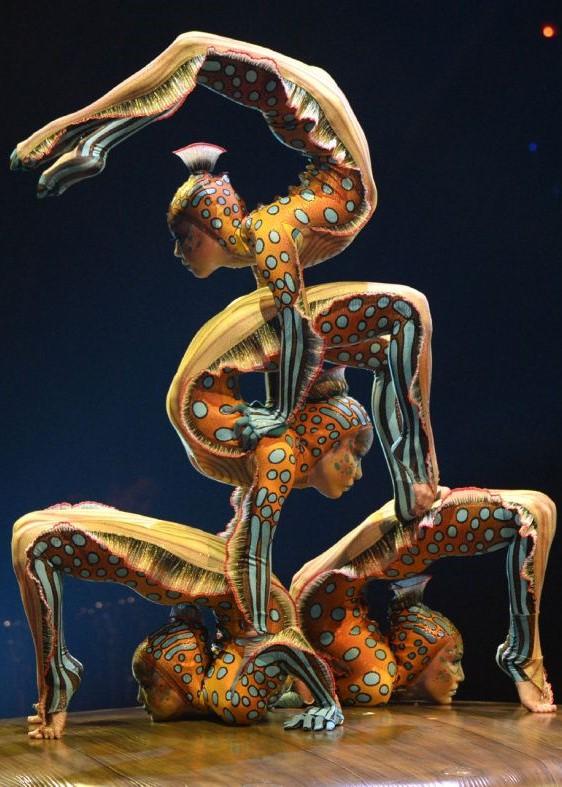 Выступление «Цирка дю Солей»