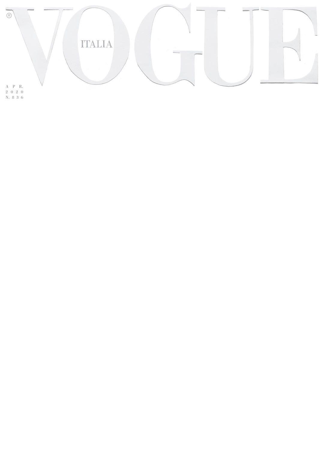 Обложка апрельского выпуска Vogue Italia