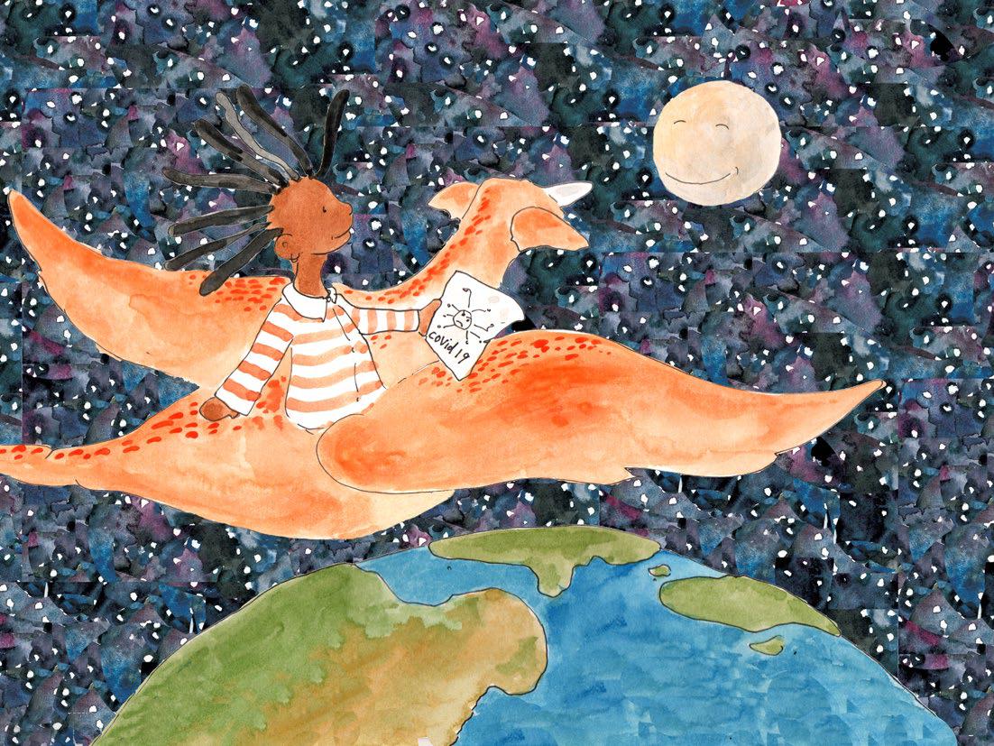 Иллюстрация из книги «Ты мой герой»