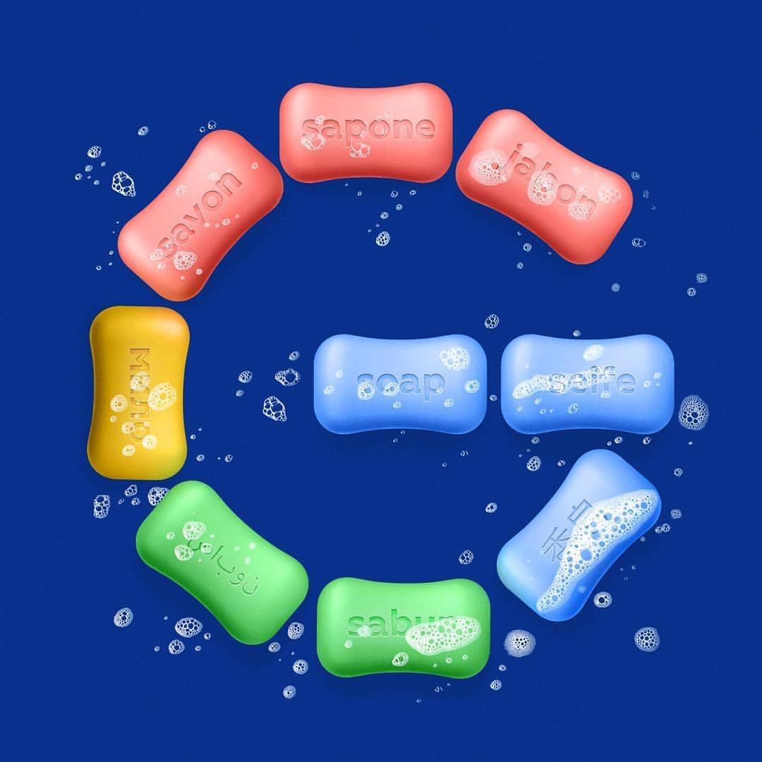 Логотип Google из мыла