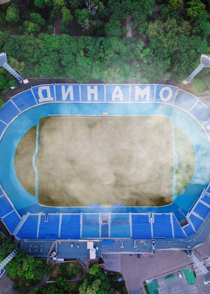 Стадион «Динамо» пожар