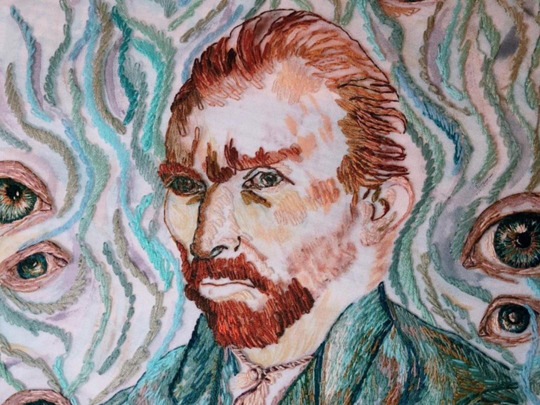 Ван Гог вышивка