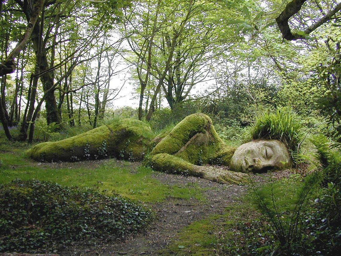 Грязевая дева в лесу