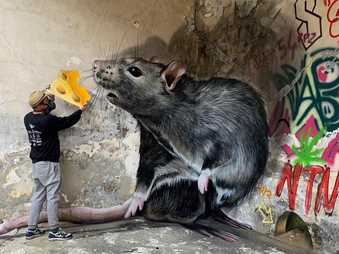 3D-рисунок с крысой