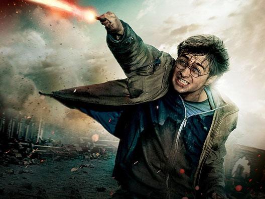 Гарри Поттер с палочкой
