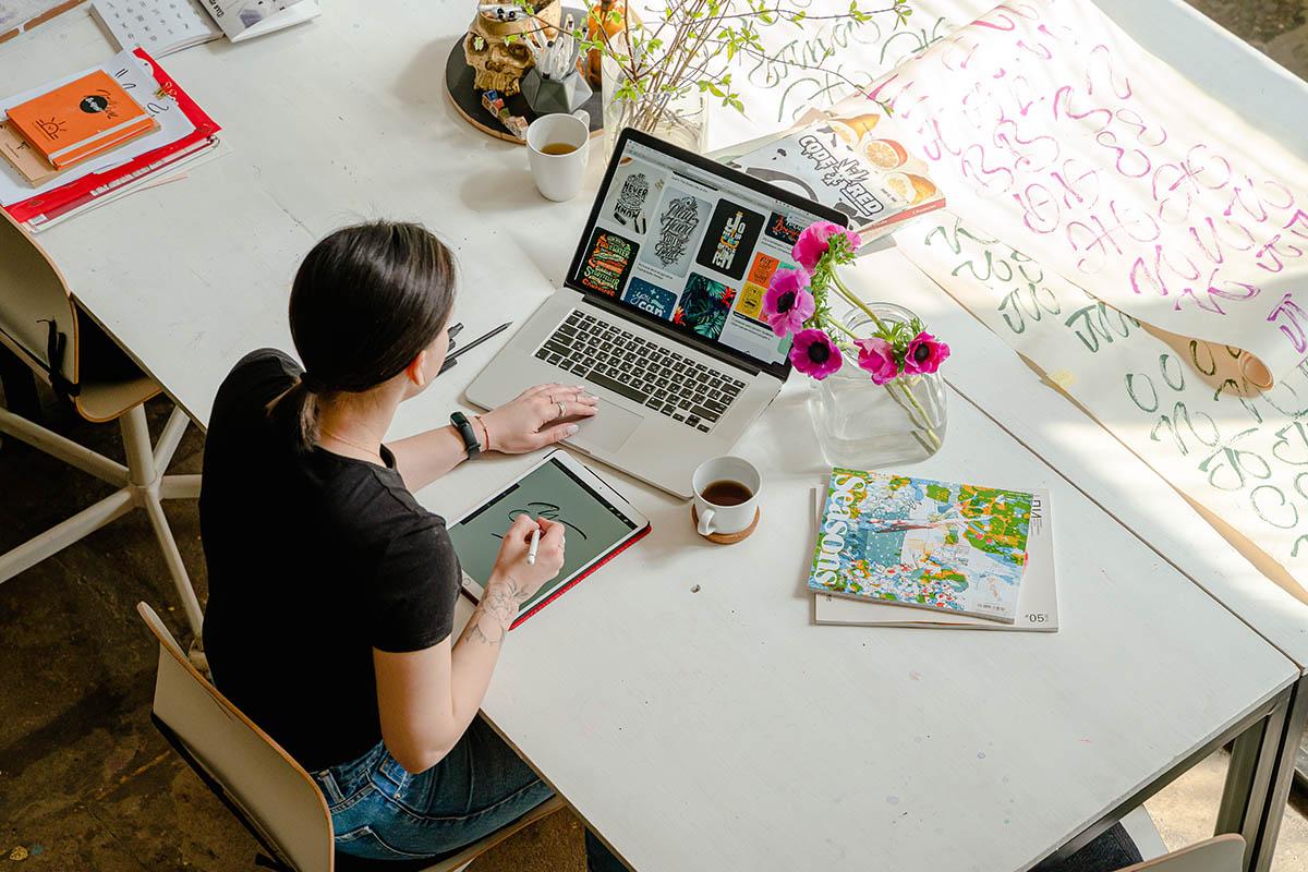 Рабочий стол дизайнера
