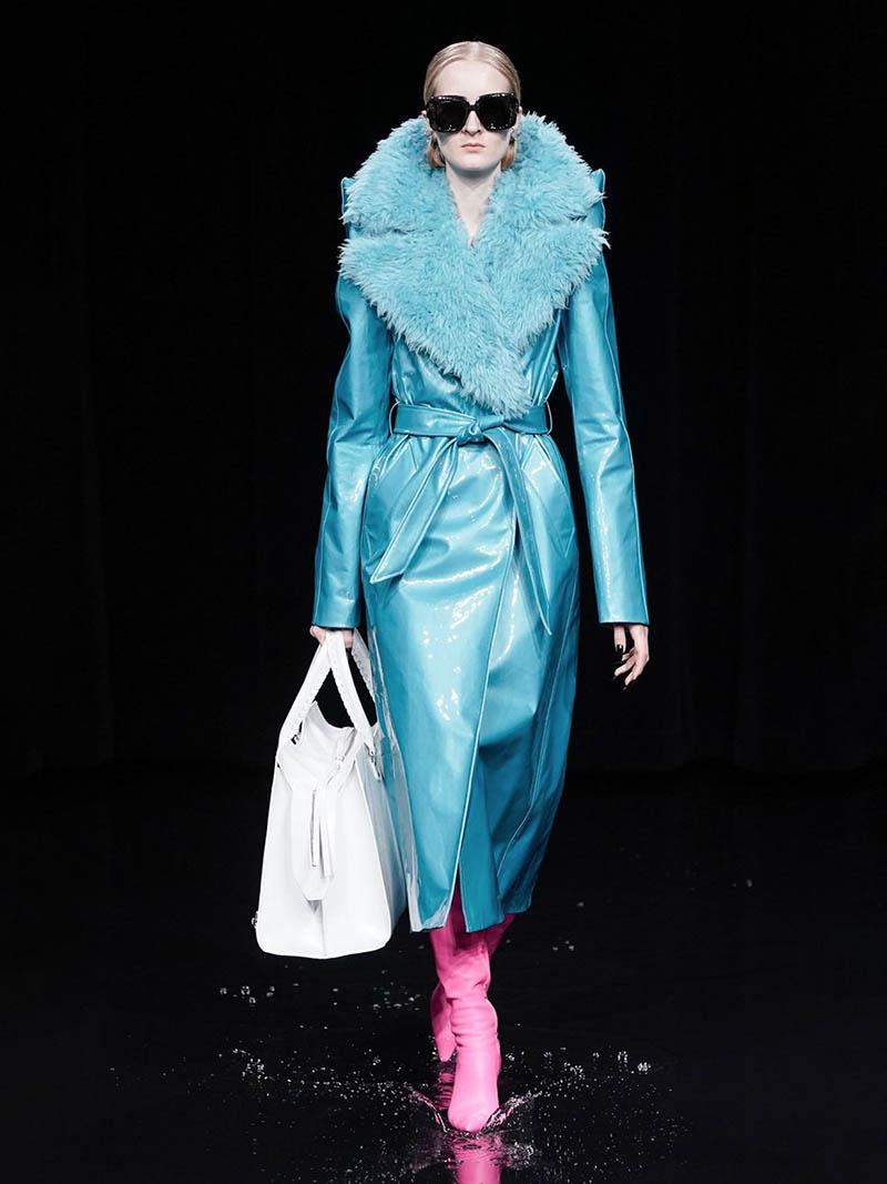 Balenciaga голубая дубленка