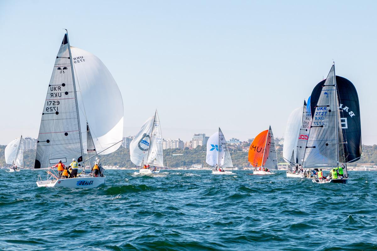 Яхты на Чемпионате Украины по парусному спорту